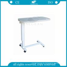 AG-OBT002 Kunststoff medizinische verstellbare Nacht Krankenhaus über dem Bett Tablett Tisch