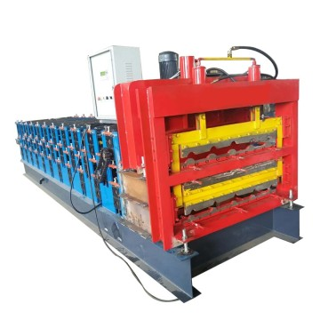 Three Deck Roofing Tile Roll Forming Machine