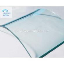 verre trempé plié pour la construction