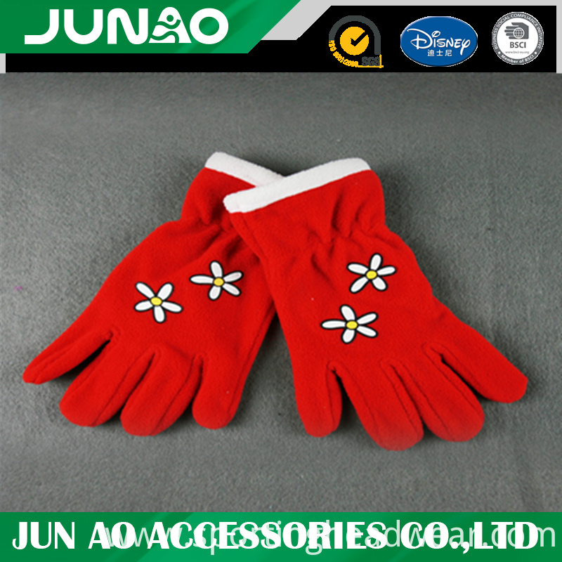 embroidery fleece glove