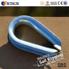 Оборудование Такелажирования веревочки провода DIN6899A Galvanied стальной наперсток