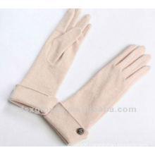long stylish turn cuffed cashmere gloves