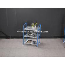 Estante de almacenamiento de 3 niveles para exhibir frutas y verduras usadas