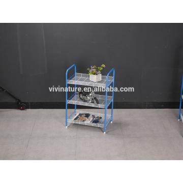 Étagère de stockage 3 niveaux pour les fruits et légumes d'affichage utilisés