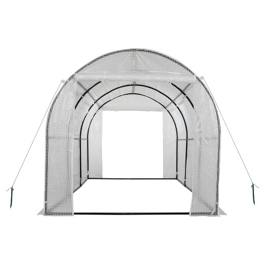 High Tunnel Galvanized Steel Frame Garden Greenhouse