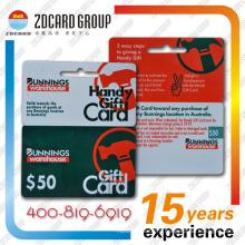 Plastic Gift Card/PVC Die Cut Card