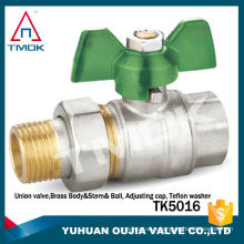TMOK TK-5016 pipe fitting brass ball valve with union joint CW617n