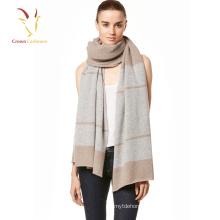Fashion ladies 100% cashmere knitting design scarf shawl women