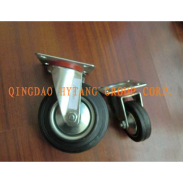 Industrial rubber caster wheel N182