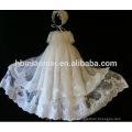 Ocasiones especiales baby bautizo 3 capas de encaje princesa vestido de cumpleaños para niña