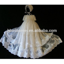 Special occasion baby christening 3 layers lace princess birthday dress for baby girl