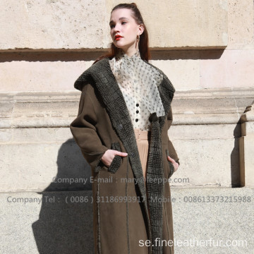 Reversibel Merino Shearling Coat For Lady