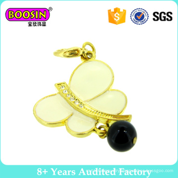 Top Sale Fashion Butterfly Charms 18k Gold Jewelry with a Bead