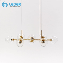 LEDER Glass Flush Mount Chandelier