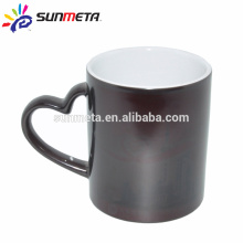 heartshape hanlde edge color mug blank sublimation mugs factory supply Yiwu Sunmeta