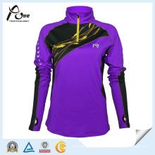 China Hersteller Frauen benutzerdefinierte lila Farbe Großhandel Sportbekleidung