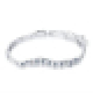 Pulsera de cristal de plata de ley 925 para mujer