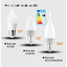 C37 Bombilla LED vela