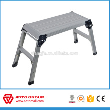 Taburete de aluminio EN131, plataforma de trabajo de aluminio, plataforma de trabajo de lavado de coches