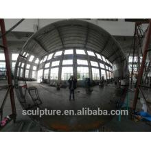 Sculpture urbaine haute sphère creuse en acier inoxydable avec grand diamètre