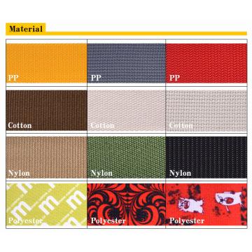 100% Eco-Friendly PP / Coton / Nylon / Polyester Bracelet Élastique / Ruban / Ceintures / Webbings pour Vêtements / Sacs
