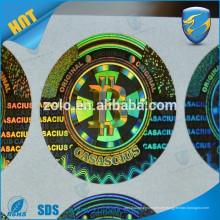 Etiqueta de encargo promocional de la impresión a estrenar Etiqueta engomada de encargo 3D del holograma