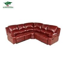 Best Selling Modern Living Sofa Furniture Tufted Leather Elegant 3 Seat Red Sofa