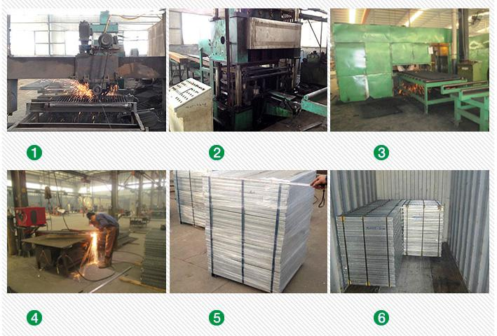 production process of steel grating