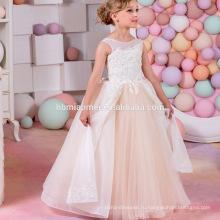2017 новый прибытия видеть сквозь рукавов симпатичные кружева платье девушки цветка для свадьбы