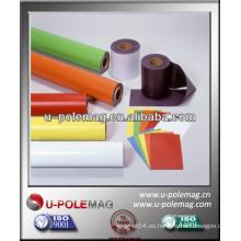 Imán de caucho flexible de PVC coloreado