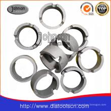 Segment de couronne de diamant pour les bits de roulement