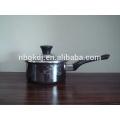 pot en émail avec poignée simple en bakélite