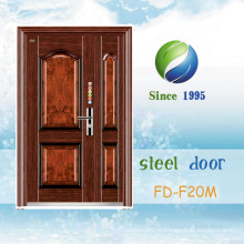 Porta de aço exterior popular da porta da segurança da porta de entrada da porta única (FD-F19M)