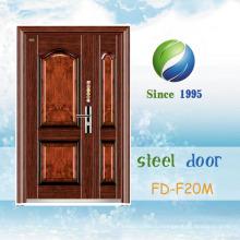 Популярные наружные двери входные двери двери один стальные двери (ФД-F19M)