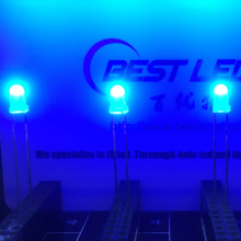 Resistencia a altas temperaturas ultra brillante de LED azul de 3 mm