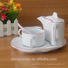 Conjunto de louça de porcelana por atacado, conjunto de louça de jantar, conjunto de jantar