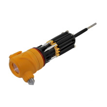 Multi-Screwdriver Torch with LED Powerful Flashlight and Yellow Head