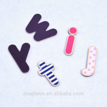 fashion color printing letter fridge magnet wood refrigerator magnet