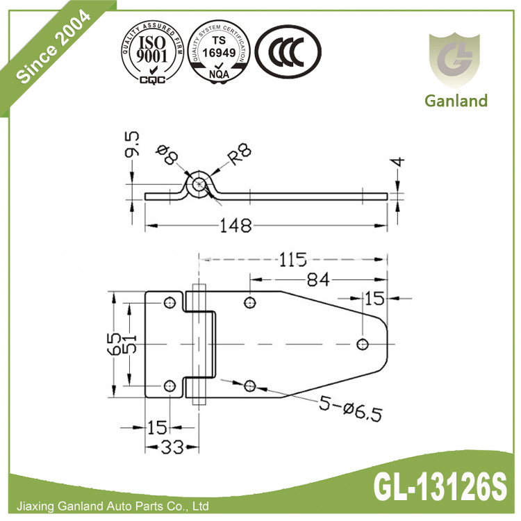 Stainless Steel Door Hinge GL-13126S
