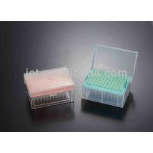 Micro pontas de pipeta com caixas