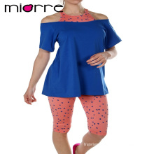 Miorre OEM Wholesale Cotton Women Sleepwear Capri Pajamas Set