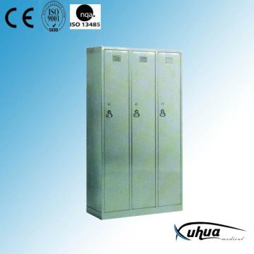 Нержавеющая сталь Больница 3-дверный гардероб (U-16)