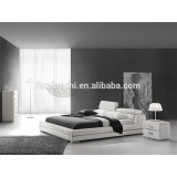 bed,leather bed,bedroom furniture