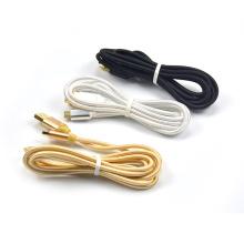 2 Meter Nylon geflochten USB Ladekabel Ladegerät USB für Nintendo 3DS DSi 2DS Neue 3DS XL / LL mit Gold Metall Charing Port
