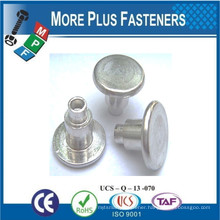 Made In Taiwan Stainless Steel Brass Two Shoulder Rivet