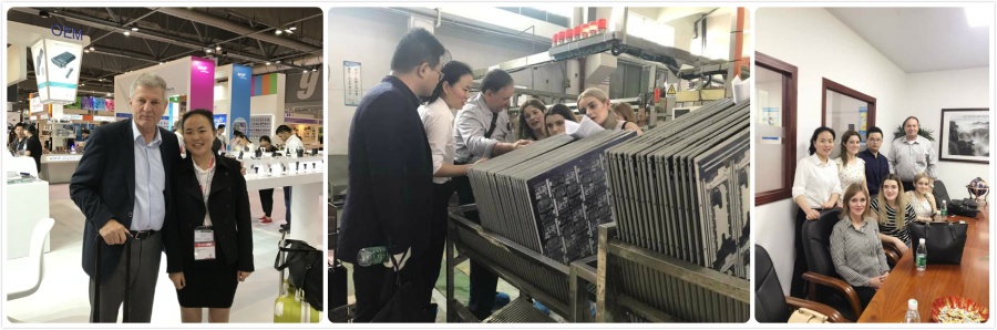 Fair and The client visit the our BGA PCB factory