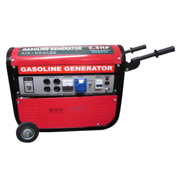 Красный бензиновый генератор HH2750-B с двойным напряжением (2KW, 2.5KW, 2.8KW)