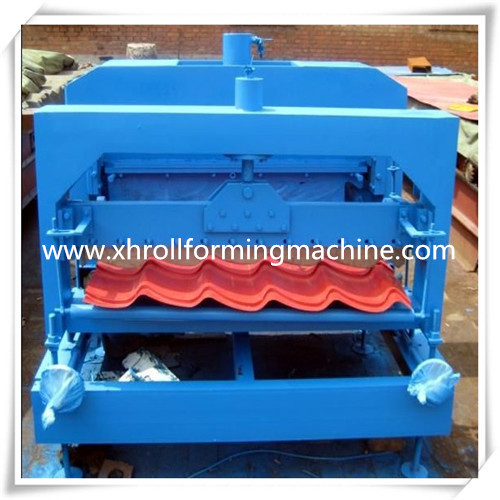 Steel Glazed Roof Tile Roll Forming Machine