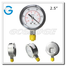 High quality stainless steel vacuum gauge with bottom mount