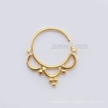 Septum Nose Piercing Ring Body Jewelry, Vente en gros Fabrication Fabricant